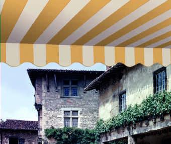 Acheter toile de store Classiques  & Traditions Ref : A 3351 NC GRANITÉ CRÈME -GRÈGE
