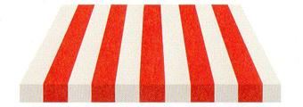 Acheter toile de store Irisun Ref : BYE 4410 ROUGE/BLANC