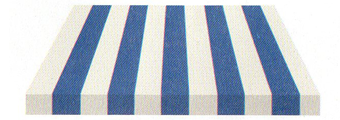Acheter toile de store Irisun Ref : BYE 4450 BLEU VIF/BLANC