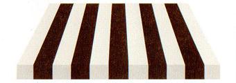 Acheter toile de store Irisun Ref : BYE 4490 MARRON/BLANC