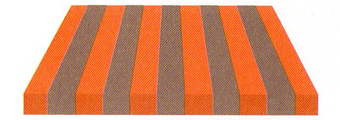 Acheter toile de store Irisun Ref : BYE 8472 GRIS/ORANGE